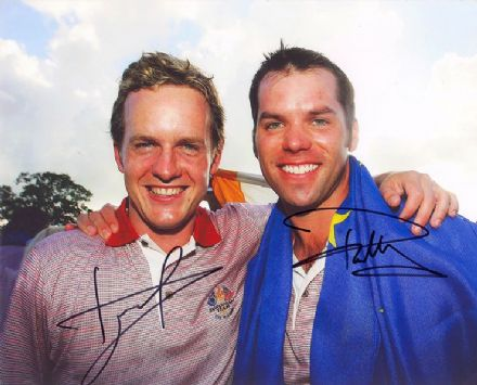 Luke Donald & Paul Casey, Ryder Cup 2006, signed 10x8 inch photo.
